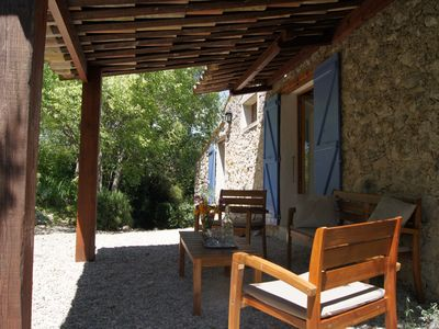 Photo for Provencal Mazet in the heart of vineyards & hills - exceptional view-Nyons -10P