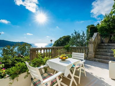 Photo for Modern apartment with perfect view to Dubrovnik Old town in authentical house