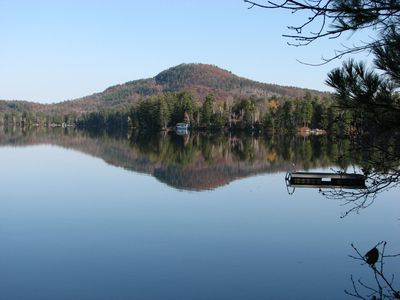 Mt. Kipp across Loon Lake from dock