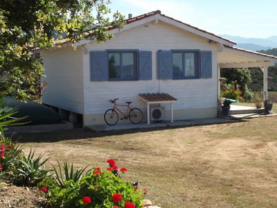 Photo for HOUSE CLIMATISEE WOOD 4 PEOPLE A 1. 5 KMS FROM THE SEA AND BEACHES