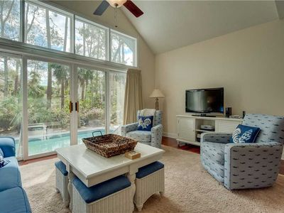 Photo for 24 Mooring Buoy | Short Walk to Beach | Private Pool w/ Free Heat | 2 Living Rooms | Palmetto Dunes