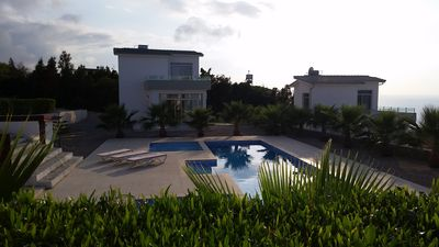 View from the downstairs terrace showing our other villa no. 5