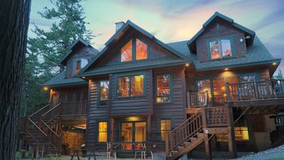 Photo for Gorgeous Log home, large spacious barn, and bunkhouse on Rangeley Lake