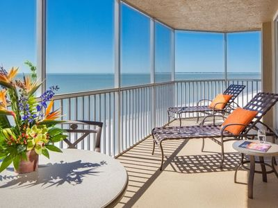 Photo for FANTASTIC GULF FRONT 1BR SUITE, BALCONY, DIRECT BEACH ACCESS! POOL, PARKING!