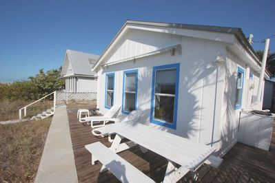 Eikos Cottage-Cute 1 Bedroom/1 Bathroom Gulf Front Cottage-Indian Rocks Beach, FL-Back of Cottage