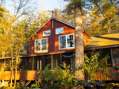 Photo for SunsetLodge Rustic Lakeside Cabins & Lodge with Sunset Views for Reunions/Groups