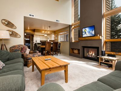 Photo for Remodeled 4BR at Canyons Base w/ Mountain-View Deck, Fireplace & Hot Tub