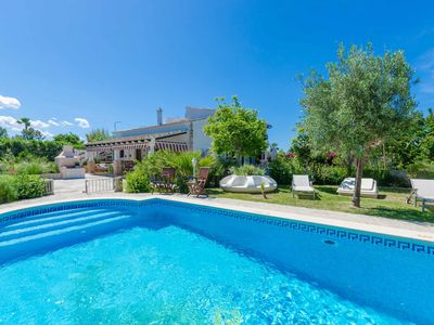 Photo for YourHouse Villa Juana, spacious villa with pool, 2 km from the beach