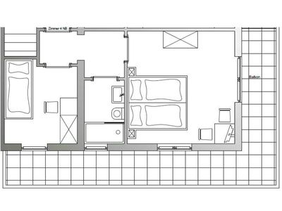 Photo for Double room 4NB with separate single room - Gasthaus Kreuzer