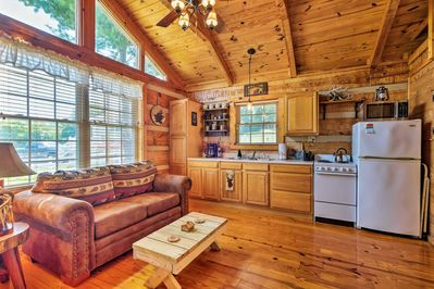 This cozy cabin sleeps 2 making it a perfect couple's getaway.