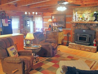 Photo for Secluded cabin close to ski, golf and tennis w/covered balcony
