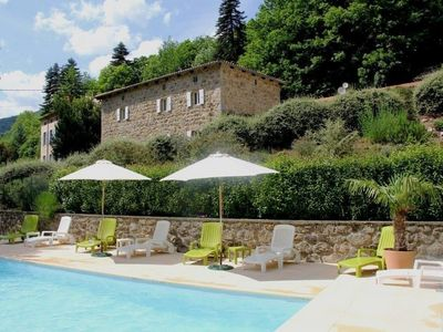 Photo for Albon D'ardèche: Properties to rent in restored Ardechois Farmhouse with pool