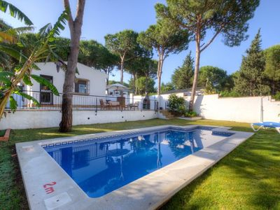 Photo for Casa Los Pinos Pleamar - Comfortable andalucian cortijo with fenced pool not far from the beach