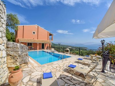 Photo for Villa Elia - Stunning sea views, private pool, Wi-Fi & A/C - close to the beach!