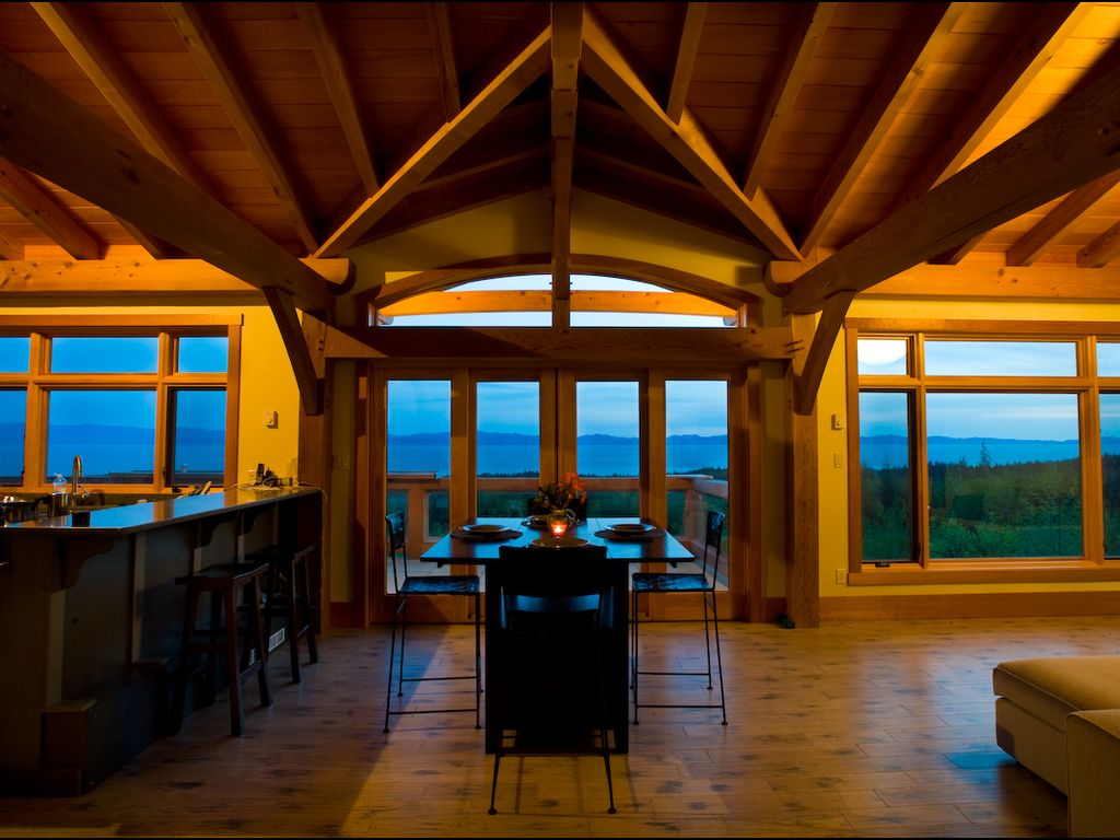 West coast luxury vacation home ocean view modern timber frame vancouver island