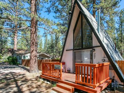 Photo for Sunrise Cottage Modern 1BR A-Frame w/ Loft / Hot Tub / Fenced / Pets Welcome