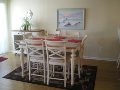 Dining room table. Seating for 8.