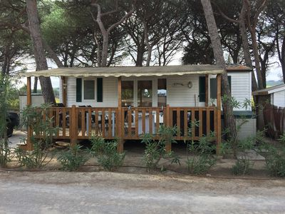 Photo for MOBIL HOME AT THE GOLDEN ROOF -SAINT TROPEZ - FEET IN THE WATER - AIR CONDITIONED