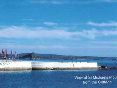 Photo for Penzance Seafront Cottage With Panoramic View Of Mounts Bay & St Michaels Mount