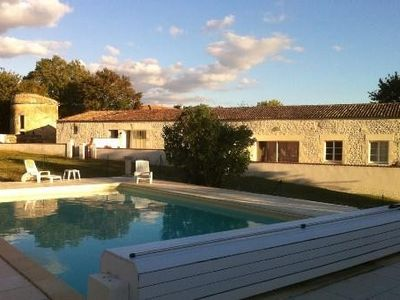 Photo for Cottage with pool in Charente Maritime 15mn beaches