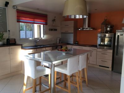 Photo for HOUSE FOUESNANT country in a quiet, heated private pool 28 ° covered.
