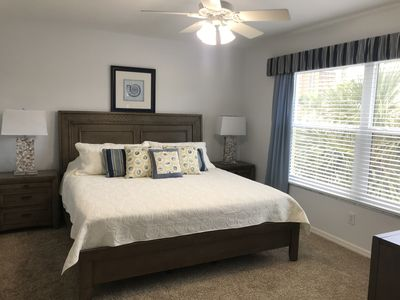 Gorgeous brand new furniture/mattress in the master bedroom with walk-in closet