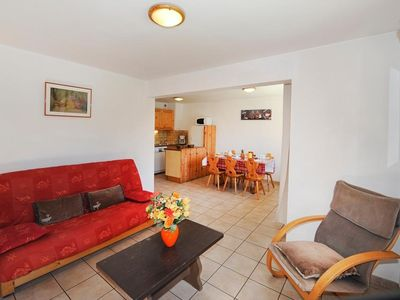 Photo for Surface area : about 60 m². Living room with bed-settee, satellite TV. Bedroom with double bed