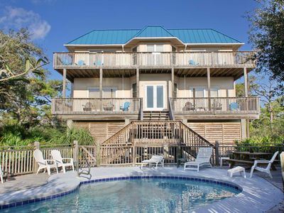 "Photo for Ready To Rent- No Storm Issues! FREE BEACH GEAR! Plantation, Pets OK, Pool, Beach View, 3BR/3BA ""Blue Haven"""