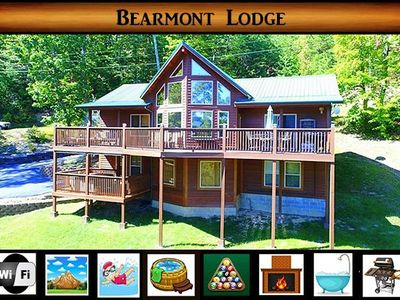Photo for Bearmont Lodge} Mtn Views \2Full Living Spaces\Hot Tub \Pool Table \Pool Access