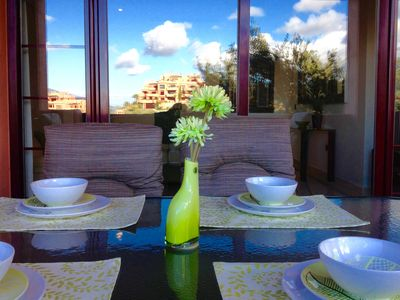 Photo for Luxury apartment in Elviria-Marbella/Mountain & Coast views/4 Pools, Fitness Ctr