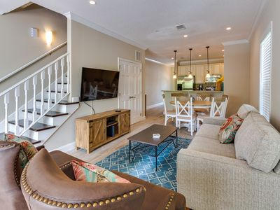 Photo for NEW LISTING! Sunny & bright townhouse w/furnished deck & shared pool