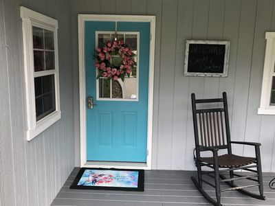 Welcome to our Blue Door Cottage, where life slows down and you get to relax!