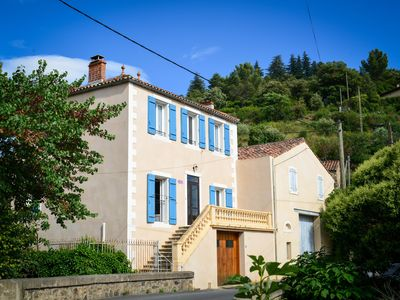 Photo for Authentic spacious house in charming village with heated pool and garage