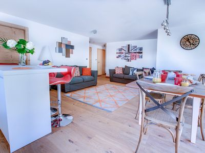 Photo for Modern Self Catered Apartment in Central Morzine, Ski in Ski out, WiFi
