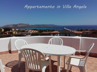 Photo for SPACIOUS AND BRIGHT FLAT IN VILLA WITH BIG TERRACE WITH SEA AND ASINARA VIEW