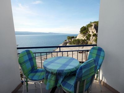 Photo for Studio flat with balcony and sea view Lokva Rogoznica, Omiš (AS-6004-c)