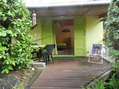Photo for air conditioned studio bungalow in a tropical garden