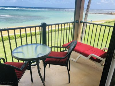 Photo for Top floor ocean front condo with A/C in Pono Kai resort - Unit C 302