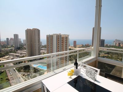 Photo for Beautiful apartment for 4 people with pool, A/C, WIFI, TV and pets allowed