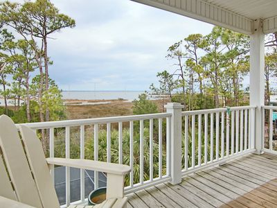 """Photo for New Rental! Private screened pool, bay views, and great Gulf Beaches convenience. Free Beach Gear, wifi, 3br/3ba, """"Landshark"""""""