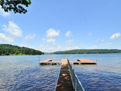 Lakefront Home w/Beautiful Lake Views, Private Dock, Hot Tub, & Fire Pit!