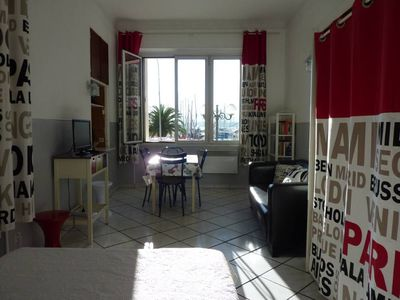 Photo for 32m2 studio in the heart of Sanary, harbor view! Included private box for a car.
