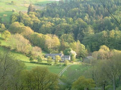 Photo for Secluded stone-built cottage  on farm in Mid -Wales, near beaches and mountains.