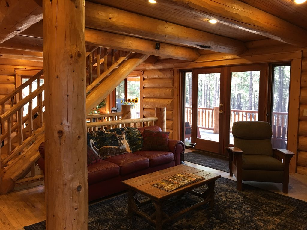 as rental cabin in to seen the rentals welcome flagstaff pines cabins hideaway hexagon holiday