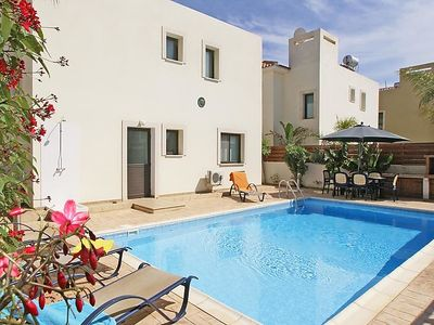 Photo for Paralimni Holiday Home, Sleeps 8 with Pool, Air Con and WiFi