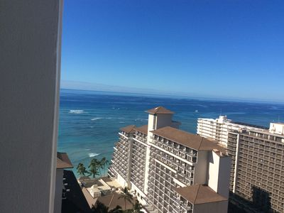 Photo for WAIKIKI CONDO*100 FT FROM BEACH*Studio* Sleeps 4*Use of Owners Penthouse Lounge