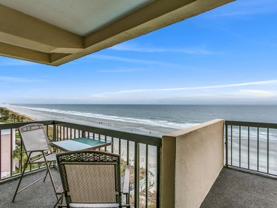 Photo for Luxury Oceanfront 3/2 Top Floor Penthouse w/ Huge wrap around Balcony!