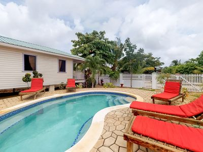 Photo for Cabana with a porch and a hammock, views of the pool & shared grill area