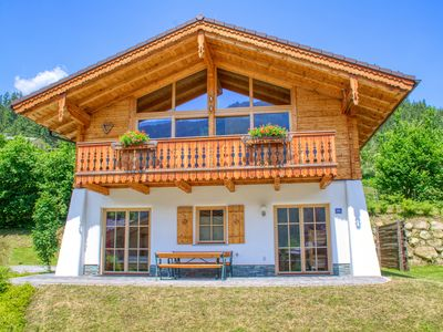 Photo for Chalet 5 - Vogelbeere - incl. Nationalpark SummerCard, stunning mountain views, sauna, sunny side