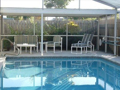 Photo for Tropical Home w/ Private Pool! Only 10 Minutes to Beaches!